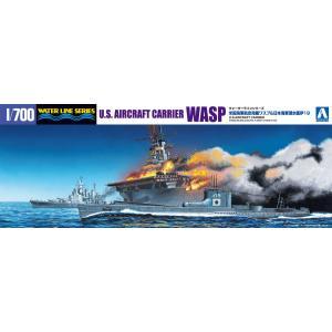 米国海軍 航空母艦 WASP(ワスプ)&日本海軍 潜水艦 伊19 1/700 ウォーターライン #プラモデル|aoshima-bk