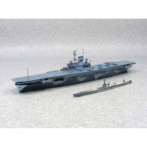 米国海軍 航空母艦 WASP(ワスプ)&日本海軍 潜水艦 伊19 1/700 ウォーターライン #プラモデル|aoshima-bk|02
