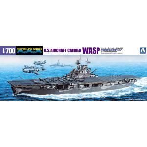 米国海軍航空母艦WASP 1/700 ウォーターライン No.715 #プラモデル|aoshima-bk