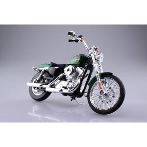 HARLEY-DAVIDSON 2013 XL 1200V セブンティーツー(グリーン) 1/12 完成品バイク #完成品|aoshima-bk