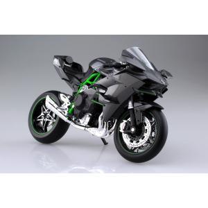 [予約特価2月再生産予定]KAWASAKI Ninja H2R 1/12 完成品バイク #完成品|aoshima-bk