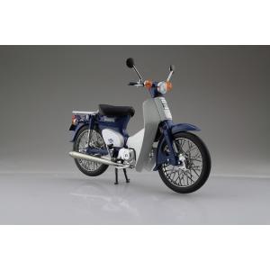 Honda スーパーカブ50 ブルー 1/12 完成品バイク     #完成品 aoshima-bk