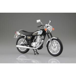[予約特価4月発送予定]YAMAHA SR400&500 グリタリングブラック 1/12 完成品バイク #完成品|aoshima-bk
