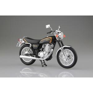 [予約特価4月発送予定]YAMAHA SR400 ブラックゴールド 1/12 完成品バイク #完成品|aoshima-bk