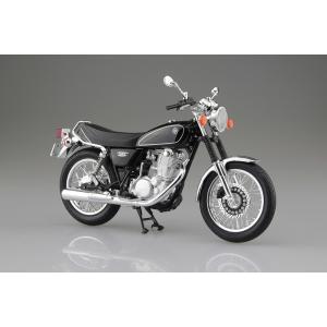 [予約特価4月発送予定]YAMAHA SR400 ヤマハブラック 1/12 完成品バイク #完成品|aoshima-bk