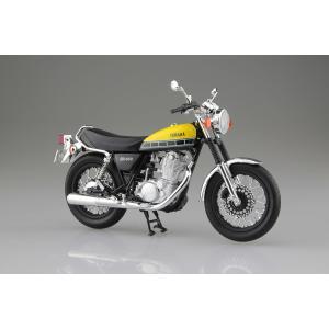 [予約特価4月発送予定]YAMAHA SR400 ライトレディッシュイエローソリッド 1/12 完成品バイク #完成品|aoshima-bk