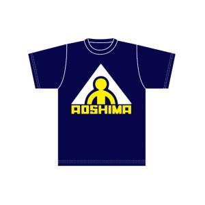 アオシマ Tシャツ (旧ロゴA 藍色) Mサイズ (オンラインショップ・各イベント限定商品)#雑貨|aoshima-bk