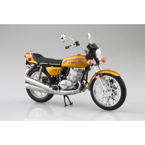 [予約特価2021年4月発送予定]KAWASAKI 750SS MACH IV (ヨーロッパ仕様) キャンディーゴールド 1/12 完成品バイク #完成品|aoshima-bk