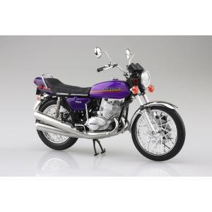 [予約特価2021年4月発送予定]KAWASAKI 750SS MACH IV (ヨーロッパ仕様) キャンディーパープル 1/12 完成品バイク #完成品|aoshima-bk