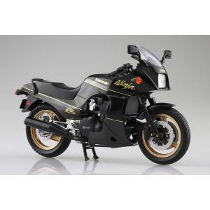 [予約特価2021年5月発送予定]KAWASAKI GPZ900R  (黒/金)  1/12 完成品バイク #完成品|aoshima-bk