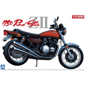 Kawasaki 750 ロードスターZII 1/12 バイク No.02 #プラモデル|aoshima-bk