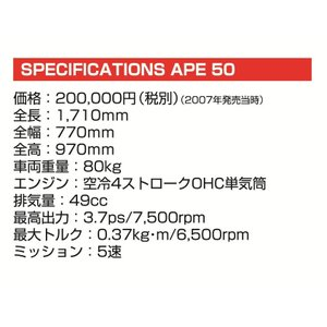[予約特価10月再生産予定]ホンダ エイプ50 1/12 バイク No.21 #プラモデル aoshima-bk 05