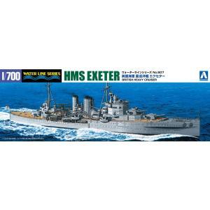 英国海軍 重巡洋艦 エクセター 1/700 ウォーターライン No.807    #プラモデル|aoshima-bk