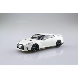 [予約特価3月再生産予定]NISSAN GT-R(ブリリアントホワイトパール) 1/32 ザ・スナップキット No.7-B   #プラモデル aoshima-bk 02