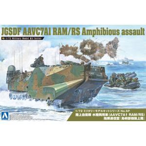 陸上自衛隊 水陸両用車(AAVC7A1 RAM/RS)指揮通信型『島嶼部強襲上陸』  1/72 ミリタリーモデルキット No.SP    #プラモデル|aoshima-bk