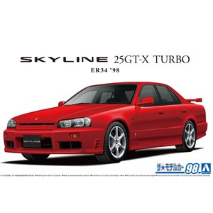 ニッサン ER34 スカイライン 25GT-Xターボ '98 1/24 ザ・モデルカー No.98    #プラモデル|aoshima-bk