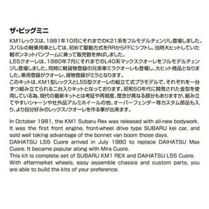 [予約特価9月発送予定]スバル KM1 レックス/ダイハツ L55S クオーレ '81  1/20 ザ・モデルカー No.SP  #プラモデル|aoshima-bk|06