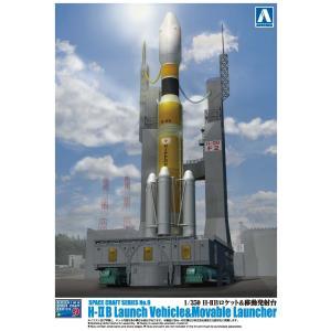 H‐IIBロケット&移動発射台 1/350 スペースクラフト No.9 #プラモデル|aoshima-bk