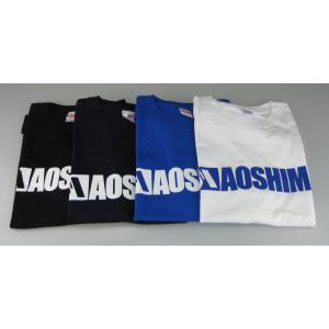 アオシマ Tシャツ (白) 青ロゴ Mサイズ #雑貨|aoshima-bk|03