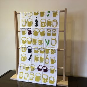 手ぬぐい「ビール」幸せのビール色!|aoyamachaho-gocha