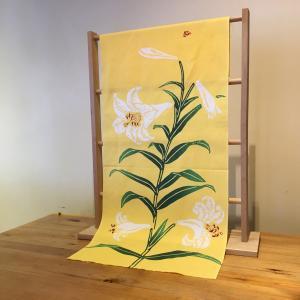 手ぬぐい「百合」ゆり(初夏・夏)|aoyamachaho-gocha