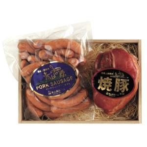ハムギフト 国産 上級 豚 焼豚&ウィンナー セット 木箱入 津市 物産振興会員 (三重県 名産) お中元 内祝い 人気商品|aoyamakogenham