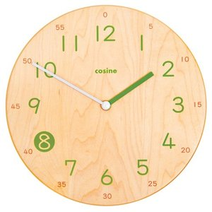 コサインから子どもが読みやすい掛け時計が新登場。 「就学前の子どもが読める時計が欲しい」  そんな声...