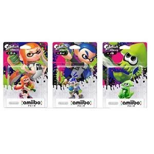 amiibo スプラトゥーン 全3種セット ガール ボーイ イカ [Nintendo Wii U]