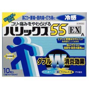 《ライオン》 ハリックス55 EX 冷感A 10枚 【第3類医薬品】 aozorablue