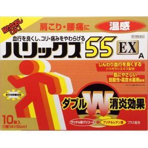 《ライオン》 ハリックス55 EX 温感A 10枚 【第3類医薬品】 aozorablue