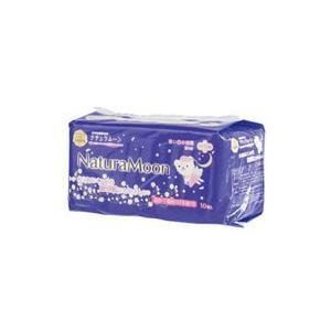 ナチュラムーン生理用ナプキン多い日の夜用 羽つき 10個入×12個セット