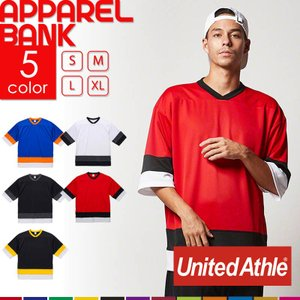 Tシャツ ポケット付き 半袖 5935 UnitedAthle 4.1オンス ドライ ホッケー Tシャツ|ap-b