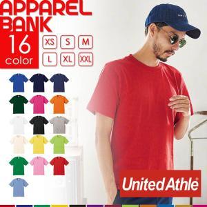 Tシャツ 半袖 5942 UnitedAthle ユナイテッドアスレ 男女兼用 厚手 6.2オンス 無地Tシャツ 無地T ヘビーウェイト プレミアムTシャツ 定番|ap-b