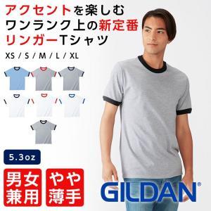 Tシャツ メンズ 半袖 リンガーTシャツ レディース GILDAN ギルダン ダブルステッチ ユニセックス ワンランク上のプレミアムコットン リングスパン糸|ap-b