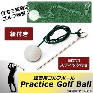 AP 練習用ゴルフボール 紐付き 固定用スティック付き 楽しくゴルフ練習♪ AP-TH459 apagency02