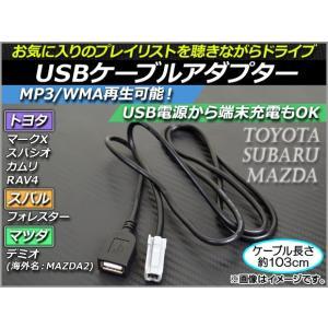 AP USBケーブルアダプター 約103cm 12V USBポート 汎用 AP-EC014