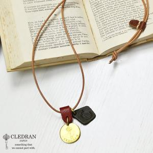 クレドラン CLEDRAN ACCENT LARGE PLATE NECKLACE ラージ プレート ネックレス CL-1543  (全2色) apakabar-style