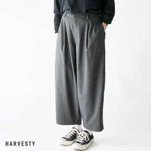 ハーベスティ HARVESTY レディース T/R WIDE EGG LONG PANTS ワイド エッグ ロング パンツ A21610 (全2色) 2021春夏 新入荷|apakabar-style
