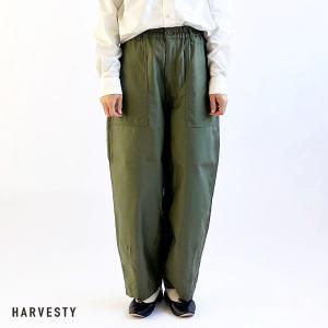 ハーベスティ HARVESTY レディース CIRCUS FATIGUE PANTS サーカス ファティーグ パンツ A12101 (MILITARY GREEN) 2021春夏 新入荷|apakabar-style
