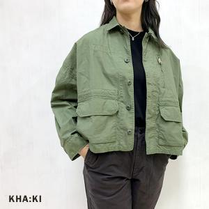 カーキ KHA:KI レディース ミリタリーフィールド ワイド ジャケット WIDE F2 FIELD JACKET MIL-21HJK150 2021春 新作|apakabar-style
