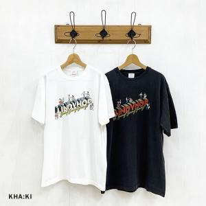 カーキ KHA:KI レディース ヴィンテージ Tシャツ LINDYHOP MIL-21SCS264 (全2色) 2021春夏 新作|apakabar-style