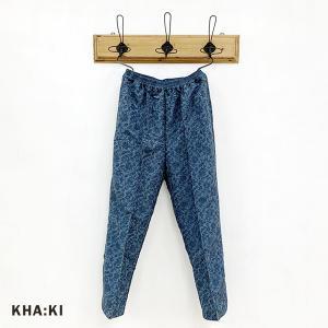 カーキ KHA:KI レディース リネンライク  エスニック ジャガード パンツ MIL-21SPT143 (全2色) 2021春夏 新作|apakabar-style