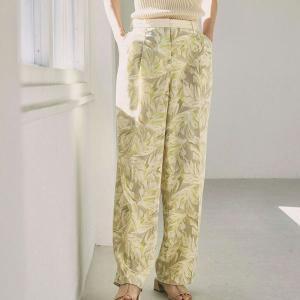 トゥデイフル TODAYFUL レディース  Leaf Tuck Trousers リーフ タック トラウザー パンツ 12110711 (クリーム) 2021春夏 新入荷|apakabar-style
