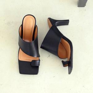 トゥデイフル TODAYFUL レディース  Squaretoe Leather Sandals スクエアトゥ レザー サンダル 12111039 (ブラック) 2021春夏 新入荷|apakabar-style