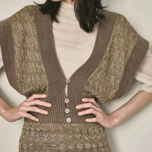トゥデイフル TODAYFUL レディース  Lace Knit Bustier レース ニット ビスチェ 12110521 (キャメル) 2021春夏 新入荷|apakabar-style