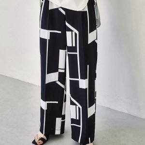 トゥデイフル TODAYFUL レディース  Geometric Tuck Trousers ジオメトリック タック トラウザー 12110727 (全2色) 2021春夏 新入荷|apakabar-style