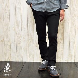 グラミチ GRAMICCI  (Men's) DENIM NN - PANTS デニム ニューナローパンツ (BLACK ONE WASH)|apakabar-style