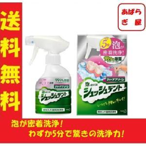 ディープクリーン 泡で出てくる シュッシュデント 部分入れ歯用洗浄剤 本体 270ml わずか5分 泡が 密着洗浄 aparagiya