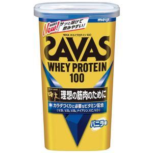 明治 ザバス(SAVAS) ホエイプロテイン100 バニラ味【14食分】 294g aparagiya