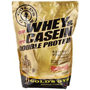 ゴールドジム(GOLD'S GYM) ホエイ&カゼインダブルプロテイン バニラ風味 2kg aparagiya